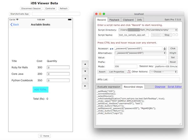 iOS Automation - Getting Started - Sahi Pro