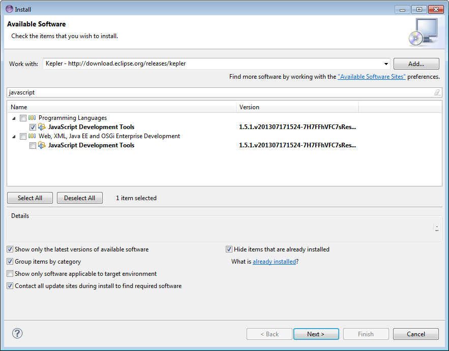 Sahi Pro Documentation - Eclipse configuration for Intellisense and