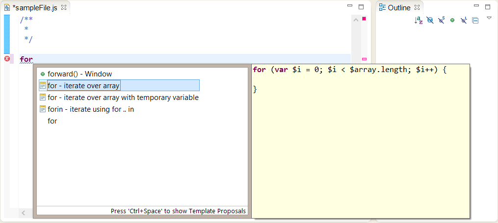 eclipse configuration for syntax highlighting template proposals