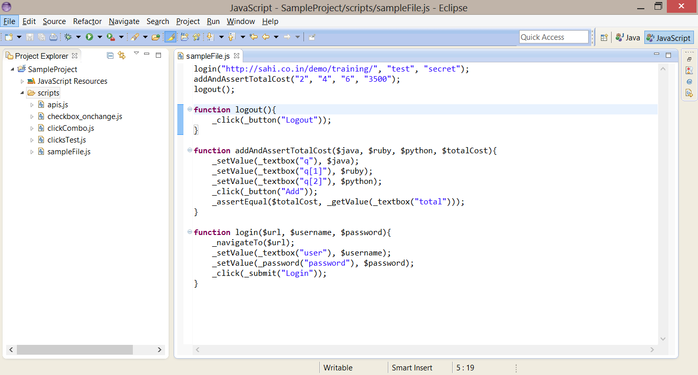 Eclipse configuration for Syntax Highlighting, Template
