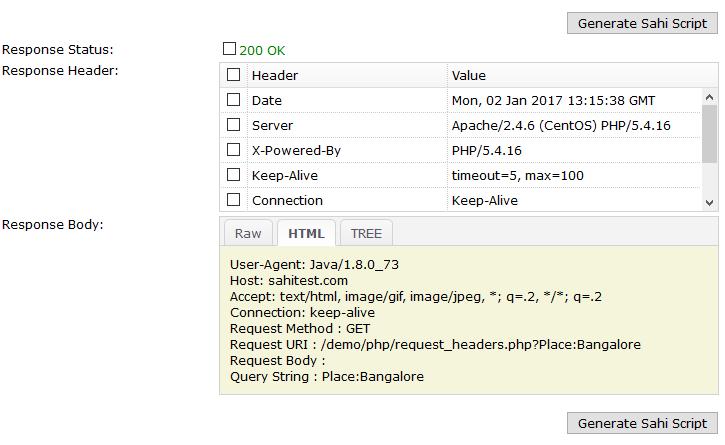 REST API Editor - Sahi Pro
