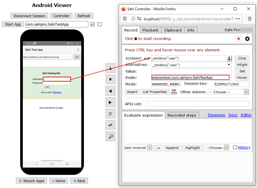 Automating Android Apps - Details - Sahi Pro