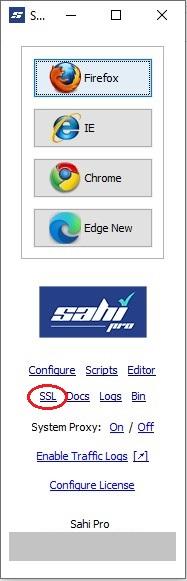 Sahi Configuration (Basic) - Sahi Pro